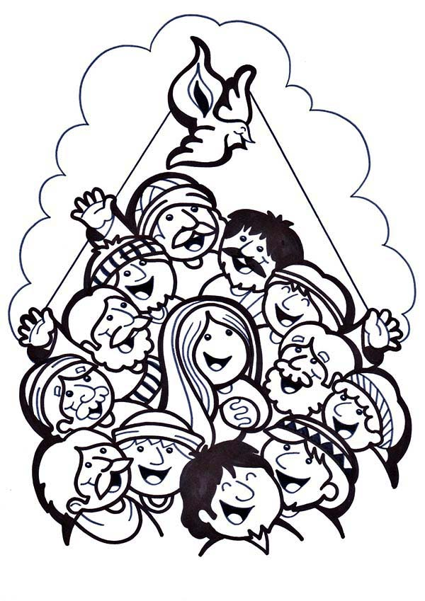 Pentecost, : A Feast for Follower of Jesus in Pentecost Coloring Page