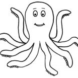 Octopus, Awesome Octopus Picture Coloring Page: Awesome Octopus Picture Coloring Page