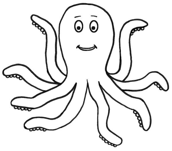 Octopus, : Awesome Octopus Picture Coloring Page