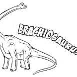 Brachiosaurus, B Is For Brachiosaurus Coloring Page: B is for Brachiosaurus Coloring Page