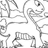 Brachiosaurus, Baby Brachiosaurus Coloring Page: Baby Brachiosaurus Coloring Page