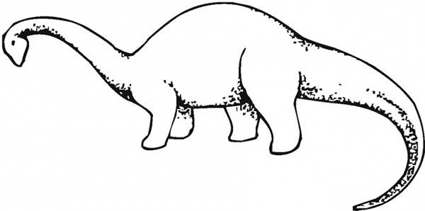 Brachiosaurus, : Brachiosaurus Bowing His Head Down Coloring Page