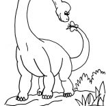 Brachiosaurus, Brachiosaurus Play With Butterfly Coloring Page: Brachiosaurus Play with Butterfly Coloring Page