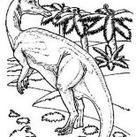 Brachiosaurus, Brachiosaurus Is Aware Of Danger Coloring Page: Brachiosaurus is Aware of Danger Coloring Page