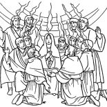 Pentecost, Celebrate Commerating Of Holy Spirit In Pentecost Coloring Page: Celebrate Commerating of Holy Spirit in Pentecost Coloring Page