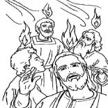 Pentecost, Celebrate The Giving Of The Law On Sinai In Pentecost Coloring Page: Celebrate the Giving of the Law on Sinai in Pentecost Coloring Page