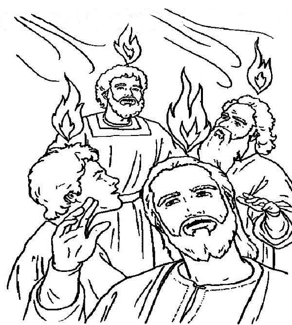 Pentecost, : Celebrate the Giving of the Law on Sinai in Pentecost Coloring Page