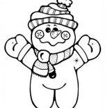 Snowman, Chibi Snowman Coloring Page: Chibi Snowman Coloring Page