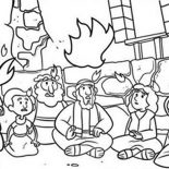 Pentecost, Commerating The Descent Of Holy Spirit In Pentecost Coloring Page: Commerating the Descent of Holy Spirit in Pentecost Coloring Page