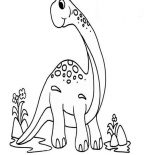 Brachiosaurus, Cute Little Brachiosaurus Coloring Page: Cute Little Brachiosaurus Coloring Page