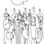 Pentecost, Everyone Is Praise Pentecost Day Coloring Page: Everyone is Praise Pentecost Day Coloring Page