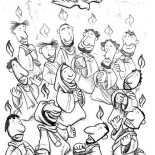 Pentecost, Feast Of The Weeks In Pentecost Coloring Page: Feast of the Weeks in Pentecost Coloring Page