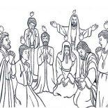 Pentecost, Followers Of Jesus Celebrate Pentecost Coloring Page: Followers of Jesus Celebrate Pentecost Coloring Page