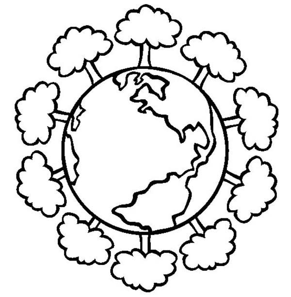 Earth Day, : Having a Healthy Forest on Earth Day Coloring Page