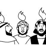Pentecost, Holy Spirit On The Followers Of Jesus In Pentecost Coloring Page: Holy Spirit on the Followers of Jesus in Pentecost Coloring Page