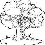 Treehouse, How To Draw A Treehouse Coloring Page: How to Draw a Treehouse Coloring Page
