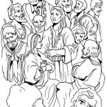 Pentecost, Jewish Harvest Festival In Pentecost Coloring Page: Jewish Harvest Festival in Pentecost Coloring Page