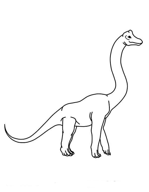 Brachiosaurus, : Kids Drawing of Brachiosaurus Coloring Page