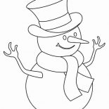 Snowman, Kids Drawing Of Snowman Coloring Page: Kids Drawing of Snowman Coloring Page