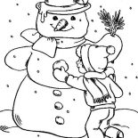 Snowman, Making Snowman Coloring Page: Making Snowman Coloring Page