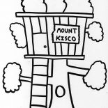 Treehouse, Mount Kisco Treehouse Coloring Page: Mount Kisco Treehouse Coloring Page