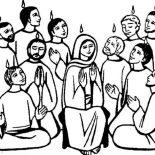 Pentecost, Obedient Followers Of Jesus In Pentecost Coloring Page: Obedient Followers of Jesus in Pentecost Coloring Page