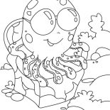 Octopus, Octopus Wearing Sunglasses Coloring Page: Octopus Wearing Sunglasses Coloring Page