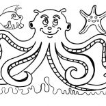 Octopus, Octopus And Friends Coloring Page: Octopus and Friends Coloring Page