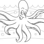 Octopus, Octopus At The Bottom Of The Sea Coloring Page: Octopus at the Bottom of the Sea Coloring Page
