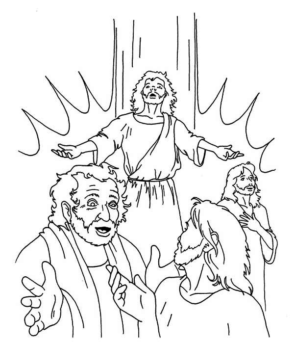 Pentecost, : Pentecost Coloring Page