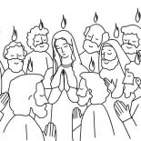Pentecost, Pentecost Praise Jesus And Holy Spirit Coloring Page: Pentecost Praise Jesus and Holy Spirit Coloring Page