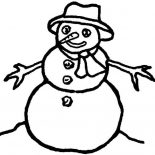 Snowman, Picture Of Snowman Coloring Page: Picture of Snowman Coloring Page