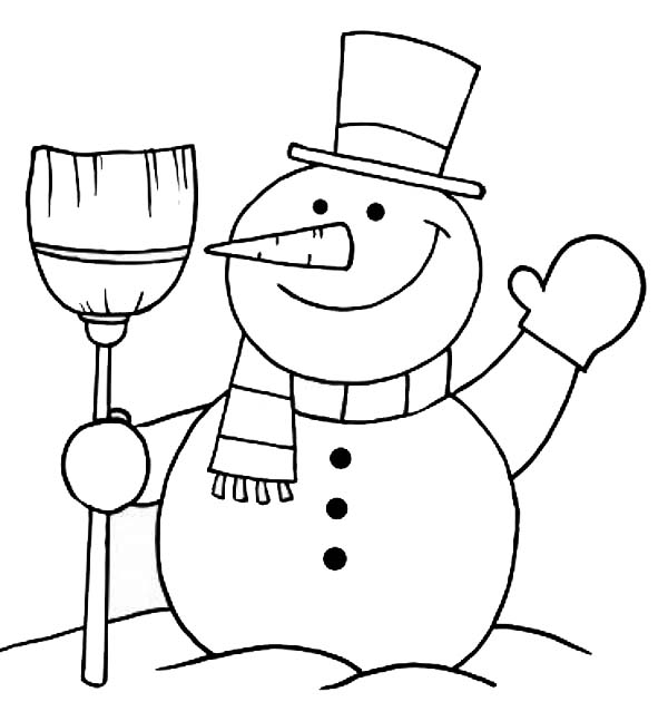 making snow angels coloring pages | Snowman Greeting Coloring Page : Color Luna