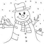 Snowman, Snowman Love Snow Rain Coloring Page: Snowman Love Snow Rain Coloring Page