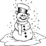 Snowman, Snowman Is Getting Cold Coloring Page: Snowman is Getting Cold Coloring Page