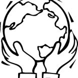 Earth Day, Supporting Our Earth On Earth Day Coloring Page: Supporting Our Earth on Earth Day Coloring Page