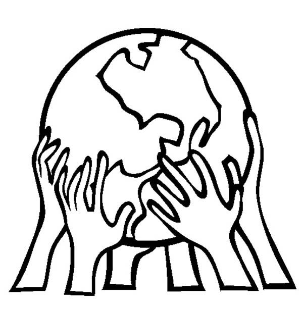 Earth Day, : Supporting Our Planet on Earth Day Coloring Page