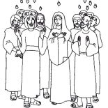 Pentecost, The Apostle Of Jesus Is Praise For Holy Spirit In Pentecost Coloring Page: The Apostle of Jesus is Praise for Holy Spirit in Pentecost Coloring Page