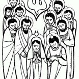 Pentecost, The Apostles Is Pray For Holy Spirit In Pentecost Coloring Page: The Apostles is Pray for Holy Spirit in Pentecost Coloring Page