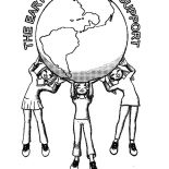 Earth Day, The Earth Supporter On Earth Day Coloring Page: The Earth Supporter on Earth Day Coloring Page