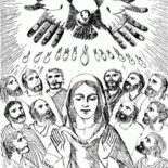 Pentecost, The Holy Spirit Upon The Apostles In Pentecost Coloring Page: The Holy Spirit Upon the Apostles in Pentecost Coloring Page