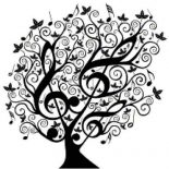 Treble Clef, Tree Of Treble Clef Coloring Page: Tree of Treble Clef Coloring Page