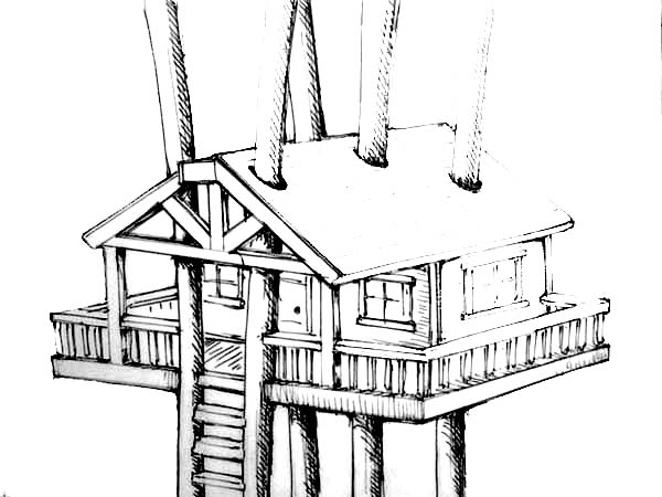 Treehouse Awesome Design Coloring