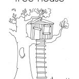 Treehouse, Treehouse Coloring Page For Kids: Treehouse Coloring Page for Kids