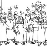 Pentecost, White Sunday In Pentecost Coloring Page: White Sunday in Pentecost Coloring Page