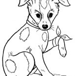 Dogs, A Dog Injured At Leg Coloring Page: A Dog Injured at Leg Coloring Page