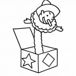 April fools, A Jack In The Box On April Fools Day Coloring Page: A Jack in the Box on April Fools Day Coloring Page