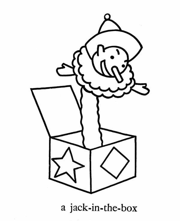 April fools, : A Jack in the Box on April Fools Day Coloring Page