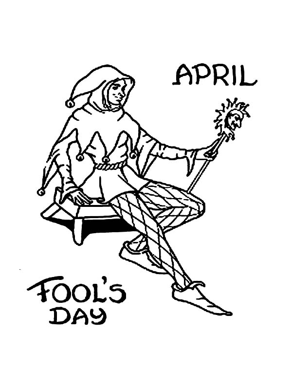 April fools, : April Fools Day Trolling Coloring Page