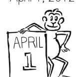 April fools, April Fools Day In 2012 Coloring Page: April Fools Day in 2012 Coloring Page